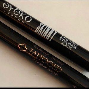 Skone Tattooed & Eyeko Eyeliner Lot Makeup